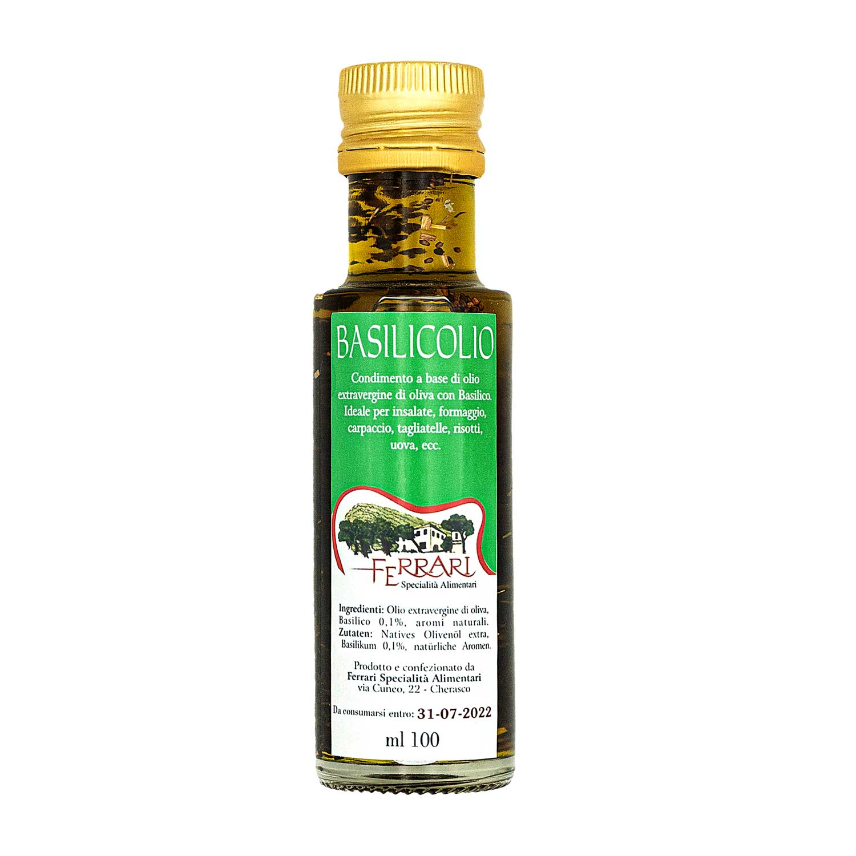 Basilicolio - olio extravergine con basilico - 100 ml